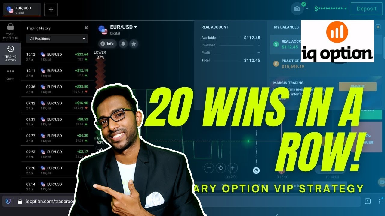 20 Wins in a Row – 100% Working Signals for IQ Option – Techie SDS