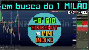 "40º DIA OPERANDO DAY TRADE – ""HEADSHOT NO MINI INDICE!!"""