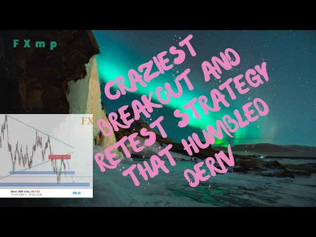 CRAZIEST BREAKOUT AND RETEST STRATEGY THAT HUMBLED DERIV(BINARY)