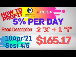 Sesi-4/5 Binary Deriv Trading Journal 10 Apr'21 How to Profit Consistent Daily Digit Differ Free Bot