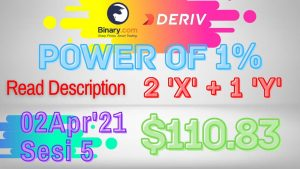 Sesi-5 Binary Deriv Trading Journal 2 Apr'21 How to Profit Consistent Daily Digit Differ Free Bot