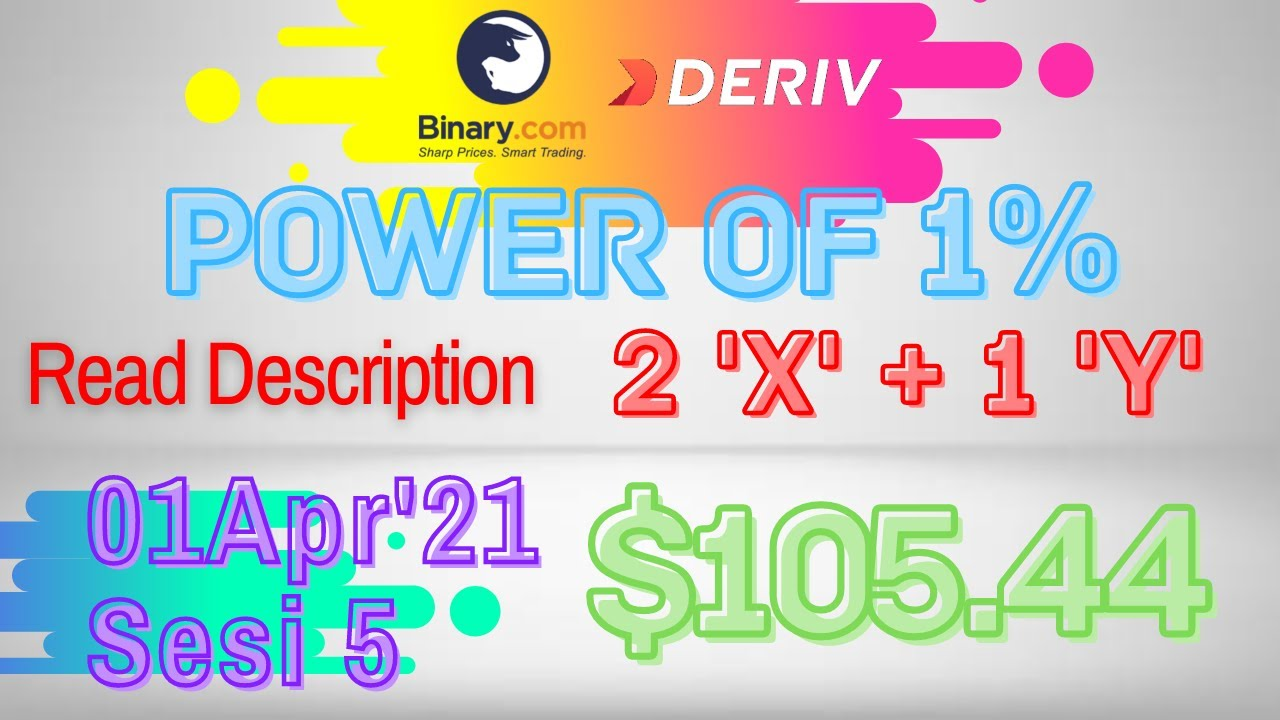 Sesi-5 Binary Deriv Trading Journal 1Apr'21 How to Profit Consistent Daily Digit Differ Free Bot