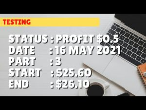 $26.10 PROFIT $0.5 | 16 may 21 p3 | Free Binary Bot Deriv Simple Strategy Trading Profitable