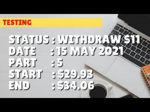 $34.06 WITHDRAW $11 | 15 may 21 p5 | Free Binary Bot Deriv Simple Strategy Trading Profitable