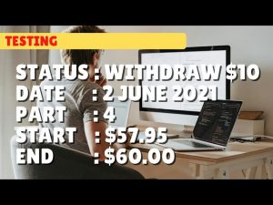 $60.00 WITHDRAW $10.00 | 2 june 21 part 4 | Free Binary Bot Deriv Simple Strategy Trading Profitable