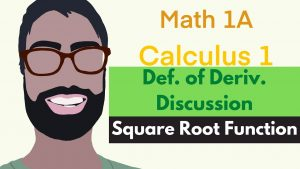 2.7-2.8 Def. of Deriv. | Discussion Video 3 – Derivative of Square Root Function || Calculus 1